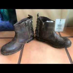 Jeffrey Campbell Chaplin Spike Leather BootsBootie